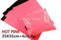 Venta por mayor-[cnklp]-color de rosa caliente 25x35cm + 4cm del labio coextrusionado multicapa auto sello poli sobres bolsas sobre [100 piezas]
