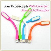 Wholesale Bendable Mini USB Led light Lamp universal for device USB interface power like Laptop computer power bank USB Gadget retail box freeshipping