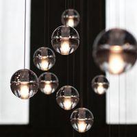 Wholesale 2016 LED Crystal Glass Ball Pendant Lamp Meteor Rain Ceiling Light Meteoric Shower Stair Bar Droplight Chandelier Lighting