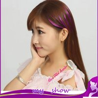 Wholesale Colorful non trace bang Stealth gradient neat hair extension extra short Inclined fringe color available