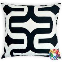 bulk yarn - 09 Home Textile Black White Square Design Bulk Custom Fancy Pillow Case Printed Pillow Cover