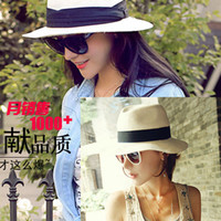 bai hat fashion - The new folding Europe and the United States of big shop sign Bai Seping eaves wide brim hat sunshade hat ladies fashion