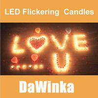 Wholesale 100pcs LED Smokeless flameless Flickering Battery Candles Tea Light Christmas
