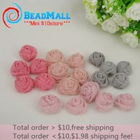 other other other Min order $10 Hotting Selling 50pcs lot 20mm Handmade Rose with sepuins DIY Headband Mix color Hair accessories Factory price