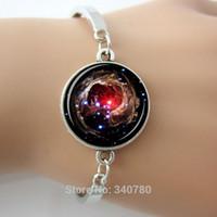 Charm Bracelets aquarius bracelet - Nebula Helix Bracelet jewelry Galaxy bangles Helix Nebula constellation Aquarius universe Style for Women bracelet bangles