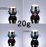 Wholesale E2 g Cream jar bright gold cover cream cans Cosmetic Jars glass cream jar