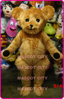 bear mascot suit - Long Hair Plush Teddy Bear Mascot Costume Adult Factory Custom New Bear Carnival Anime cosply Costumes Fancy Dress Kits Suit