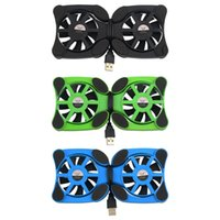 Wholesale 2 USB Port Mini Ocus Laptop notebook cooling pad Fan Cooler Cooling Pad Folding Coller Fan Cooling Pad ventilador portatil T0011