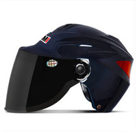 Wholesale Scooter Helmet YOMI D ABS Bicycle Casco Vespa Casque Motorcycle Bright Pink Summer Helmet amp UV Lens Adult