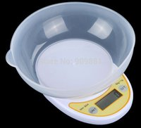 big plastic bowls - Big Discount FreeShipping Original kg g g Portable Digital Electronic Kitchen Scale Food Parcel Weighing Balance with Bowl