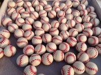 baseball machine balls - mm solid baseball pattern rubber bouncing ball for toy machine