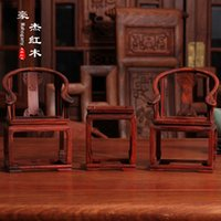 bamboo furniture chair - Mahogany furniture mahogany chair armchair palace rosewood miniature miniature furniture gold full exchange of goods