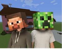 Wholesale 2015 new Minecraft Masks Steve Creeper Zombie Box head mask Party masks christmas birthday party masks costumes