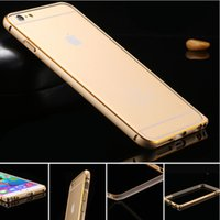 Wholesale special offer dirt resistant anti knock ultra thin luxury aluminum metal frame cell phone case for Apple iPhone inch freeshipping
