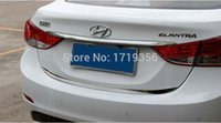 Wholesale high quality Stainless Steel CAR Tail Door Above Trunk molding Lid Cover trim fit for HYUNDAI ELANTRA MD