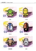 Wholesale 6 kinds Hot Sale Cartoon Star Wars Black Knight Darth Vader Yoda Minifigure Refrigerator SWAT Posted Magnet Blackboard Magnetic Toys