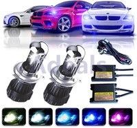 bi auto - 2X W V AC Car Auto H4 Bi Xenon Hi Lo Beam Light HID Headlight Bulbs LED Replacement