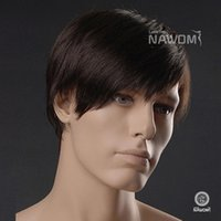 Wholesale Factory Direct Sale Best Selling Fashion Handsome Men Wigs Cosplay Wig Short Synthetic Hair Dark Brown Color Wigs