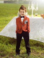Wholesale 2015 Luxurious Coffee Ring Bearer Suits trend Boys Tuxedo With Black Bow Tie kids formal dress boys suits fashion kids suits N3