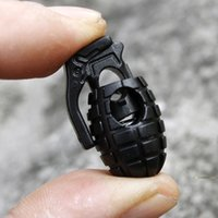 Wholesale Fashion Black Grenade Shoe lace Buckles Stopper Rope Clamp Paracord Cord Shoelace Spring Locks shoes accessories