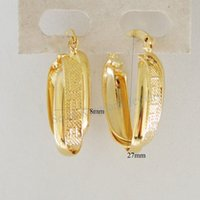 Wholesale MIN ORDER CAN MIX DESIGN NEW GREEK KEY TWISTED K YELLOW GOLD GP OVERLAY OVAL HOOP TALL quot EARRING