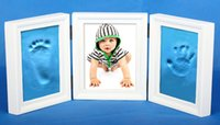 ECO Friendly baby photo frames - Air Dry CLAY PHOTO FRAME KIT for Baby Child Creates Foot Hand Print New Design