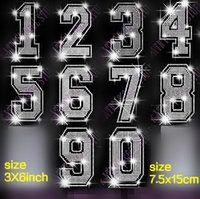 arabic patches - NUMBERS sets Arabic numerals hotfix rhinestones motif heat transfer iron on patch garment accessory