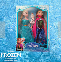 Wholesale 2014 new generation of frozen Elsa Anna Olaf Snowman Set Playset Dolls Movable Joints Frozen Princesses display Toys Kids Best Gifts Gift