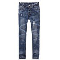 Wholesale 2014 HOT New Arrival High Fashion Men s Jeans Slim Fit Straight Trousers Zipper Style Pants Designer Capris jeans for men