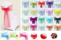 Wholesale 2015 New Wedding Banquet Decorative Items Tulle Chair Decoration Wedding Chair Cover Wedding Chair Cover Bow