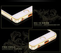 apple blossoms - Big sale for apple iPhone6 plus metal frame aluminum mobile phone sets of the plum blossom eye series