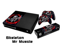 Skeleton Mr Muscle Pegatina Decal Skin / Stickers Para xbox una Consola + 2 Controllers + Kinect Skin