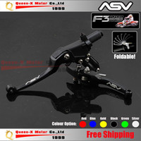 asv clutch levers - Aluminum CNC ASV F3 ND Folding Clutch And Brake Lever For Dirt Bike Pit Bike Modify parts Spare Parts order lt no track