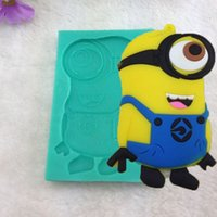 Wholesale 1pcs Despicable Me Minions Silicone Soap Chocolate Mold Craft Fondant Tools Cake decoration Dessert Pastry Cooking Tool Kitchen Bar Dining