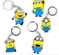 Wholesale Metal Despicable Me Minion Action Figure Keychain Keyring Key Ring Cute Promotion Gifts DHL EMS Whoesale