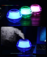 mist maker humidifier - Free DHL Beauty Backlight Crystal USB Air Ultrasonic Humidifier Fogger Aroma Mist Maker Aromatherapy Essential Oil Diffuser for Home Office