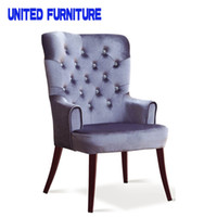 Wholesale LUXURY Dining Chairs Grey RED BLUE sofa lobby chair METAL Legs Original Designed Brand dining Chairs