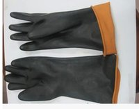 anti corrosion oil - High quality latex gloves anti acid oil resistant and corrosion protective gloves work gloves