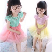 baby check mini - Baby Girls Dress Checked Sleeveless Ruffled Summer Dresses Party Cute Dress