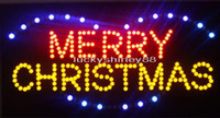 Wholesale LED MERRY CHRISTMAS SIGN BOARD x10 quot Led Neon sign lighted advertising signs