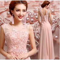 beads corduroy - New Arrival Hot Sale Fashion Special Elegant Luxury Princess Organza Dinner Banquet Pink Beads Perform Short Bridesmaid Dress