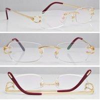 Wholesale Hot Classic brand frame Ct Rimless Original Eyeglasses Gold