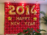 Wholesale 32 inch Newest Mylar Foil Figure Balloon Perfect Bright Gold Large Figure For Birthday Party Decoration GNY