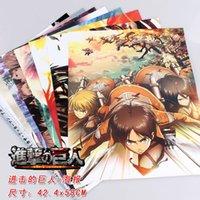 attack wall - 40 Attack On Titan Posters Anime Shingeki no Kyojin Stickers Eren Mikasa Levi wall sticker X58CM