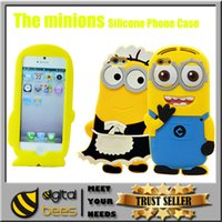3d iphone 4 case - 3D Cartoon phone case Despicable Me Minions Minion M2 Silicone Case Cover For iPhone S S plus samsung galaxy note S4 S5