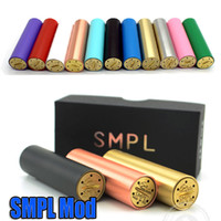 ar wholesale - Full Mechanical Mod SMPL for RBA RDA Atomizer with Signature design Smpl vs ar mod Chiyou King Panzer Caravela newest