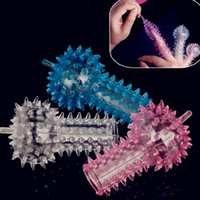 Wholesale Sex products ST O40CE novelty crystal rings thimbler set caterpillar finger cots sex products adult and wife sex product sex toys