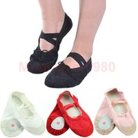 Wholesale Womens Comfortable Breathable Canvas Soft Ballet Dance Shoes Suitable For Adult PY PY