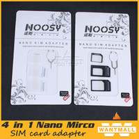 Wholesale Dual in Micro Sim Cutter iPhone S Nano micro SIM Card Adapter for Samsung Galaxy Regular Sim