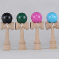 Wholesale 100pcs Japanese Traditional Wood Game Toy high quality mini Pocket Kendama Ball PU Paint CM DHL